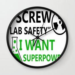 Screw Lab Safety Wall Clock