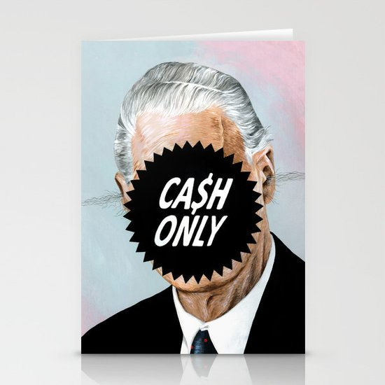 CA$H ONLY Stationery Cards