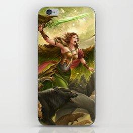 Green Angel iPhone Skin