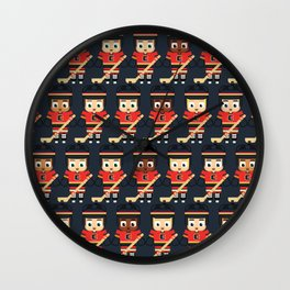Super cute sports stars - Ice Hockey Red, Yellow and Black Wall Clock
