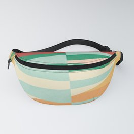Abstract Vertical Waves Fanny Pack