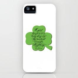 St. Patrick's Day Shamrock Irish Proverb iPhone Case