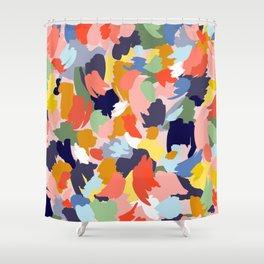 Bright Paint Blobs Shower Curtain