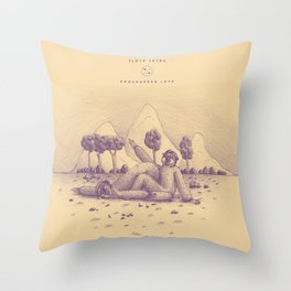 Endangered Love - Sloth Sutra Throw Pillow