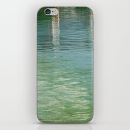 Aqua Abstract Flow iPhone Skin