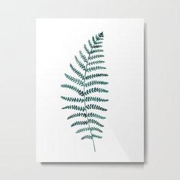 Emerald Fern Watercolor | Botanical Painting Metal Print