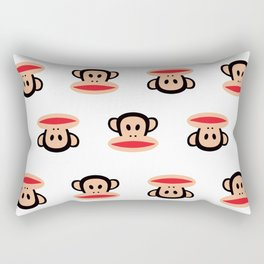 Julius Monkey Pattern by Paul Frank - White  Rectangular Pillow