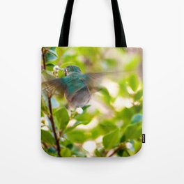 Hummingbird Summer Blur photography by CheyAnne Sexton Tote Bag