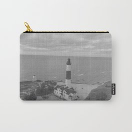 Black and White Lighthouse Carry-All Pouch