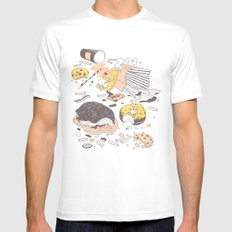 Brunch MEDIUM White Mens Fitted Tee