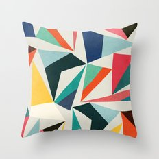 Collection of pointy summit Throw Pillow