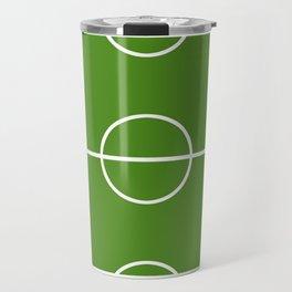 Football field fun design soccer field Travel Mug