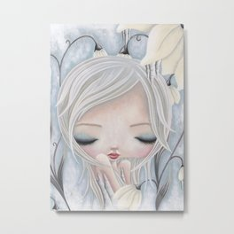 Silence of the Snowdrops Metal Print