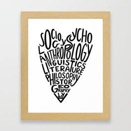 Love Humanities Framed Art Print