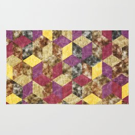Colorful Isometric Cubes VII Rug