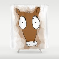 donkey Shower Curtains featuring Donkey by Frances Roughton