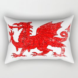 Welsh Dragon With Grunge Rectangular Pillow