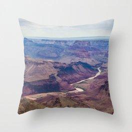 Colorado River in Grand Canyon Throw Pillow