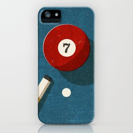 BILLIARDS / Ball 7 iPhone Case