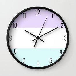 Trio Shades, Lilac White & Light Blue Wall Clock