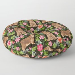 Cocker Spaniel hawaiian tropical print with dog breeds cocker spaniels Floor Pillow