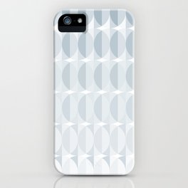 Leaves in the mist - a pattern in ice gray iPhone Case