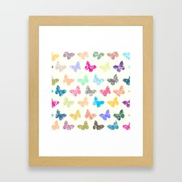 Colorful butterflies Framed Art Print
