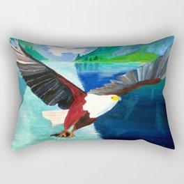 Eagle at Mystic Lake Rectangular Pillow