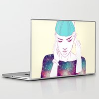 grimes Laptop & iPad Skins featuring GRIMES by Nuk_