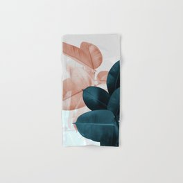 Blush & Blue Leaves Hand & Bath Towel