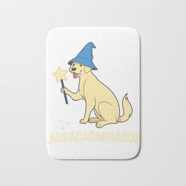 Magical Yellow Labrador Print Cute Dog Wizard Lab Print Bath Mat