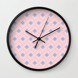 Rose Quartz and Serenity Geometric Wall Clock