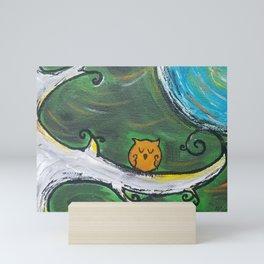 Owl Sleeps In Mini Art Print