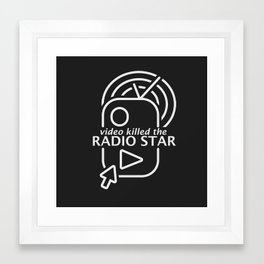 Video killed the radio star (white edition) Framed Art Print