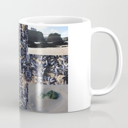 Cornwall Mussels and other Low Tide Beach Photo Composite Newquay Cornwall Coffee Mug