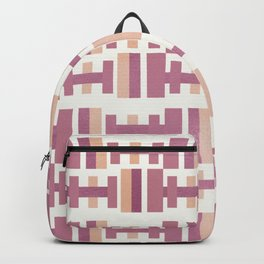 Pastel Berry Modernist - Mid-Century Modern Backpack