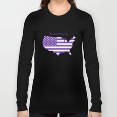Make America Purple Again United States Map Long Sleeve T-shirt