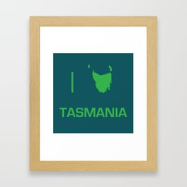 I heart Tasmania Framed Art Print