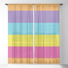 Gender Non-Binary Pride Sheer Curtain