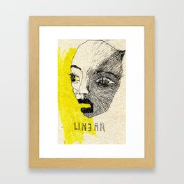 linear Framed Art Print