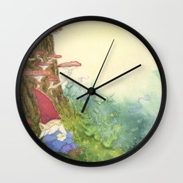 The Sleeping Gnome Wall Clock