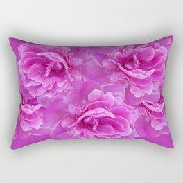 Purple Peony Flower Bouquet #1 #floral #decor #art #society6 Rectangular Pillow