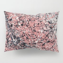 Paris - Jackson Pollock style drip painting design, Abstract art prints Pillow Sham
