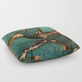 EMERALD AND GOLD Floor Pillow
