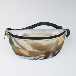 White Magnolia Fanny Pack