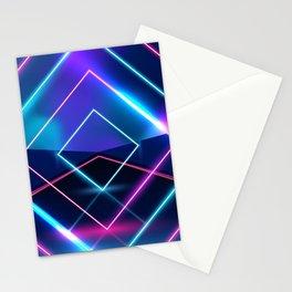 Neon Geometric Lights  Stationery Cards