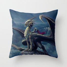 He and His Dragon Throw Pillow