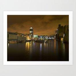 Reflections II - Grand Canal Dock Art Print