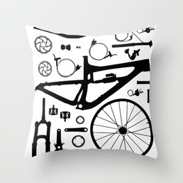 BIKE PARTS - NOMAD Throw Pillow