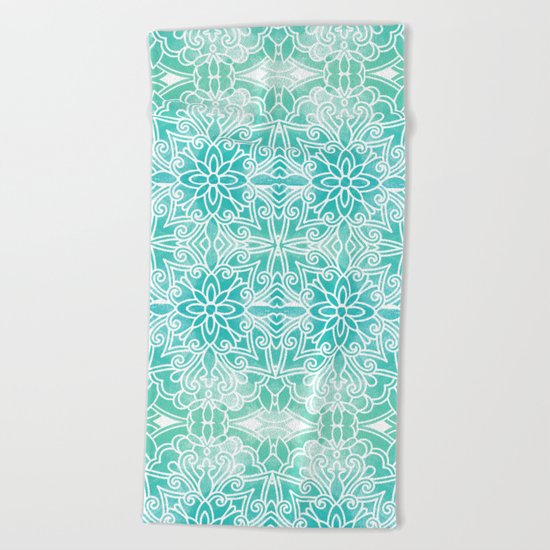 Water Mandala Beach Towel